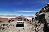 Driving up Volcan Ollague