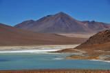 Lake full of flamingos in the Eduardo Alvaroa National Reserve, Southern Bolivia