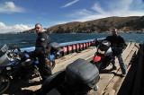Crossing Lago Titicaca on a ferry