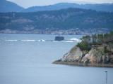 Norwegische Uboot-Norsk ubåt i Hjeltefjorden nær Rongsund