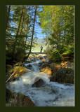 creek from waterfall Blue ridge area framed.jpg