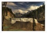 Waptai falls B.C framed