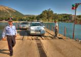 The ferry at Butrint - hi-tech docking