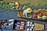Thai Floating Markets & Food Stalls