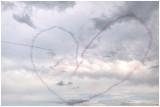 Coeur dessiné par la Patrouille de France