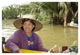 Vendeuse sur les Klong de Bangkok