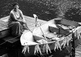 Lake Woman and Her Boat (fish added...)