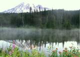42 mist on the mountain lake