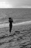 Girl on beach 1 BW.jpg