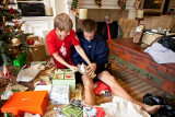 Will and Jack opening presents