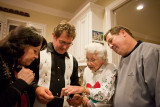 Looking at photos of Kackie's great grandchildren