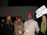 The volunteers met at the base of the Washington Monument. We had to be there by 5 AM. This was taken around 4:45.