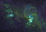 NGC 3576 & NGC 3603 in Ha SII Ha OIII