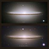 Sombrero Galaxy Hubble v Starfire