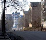 Bolshaya Krasnaya Street and Kremlin Wall