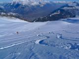 Vallée du Rhône au fond