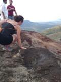 Cerro Negro (active) vulcano, the earth is hot