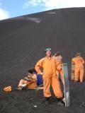 Boarded down Cerro Negro vulcano at 46 km/h!