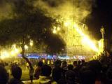 Fireworks before Semana Santa procession, Ayacucho