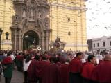 Semana Santa procession from San Francisco cathedral, Lima