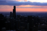 Sears Tower at dusk, Chicago