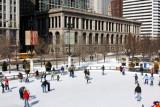 Skating at Millennium Park, Chicago