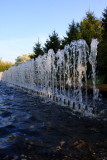Water in its most jumpy form, Chicago Botanical Garden