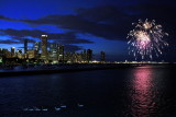 Venetian night - Chicago, fireworks and ducks, U.S.A.