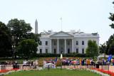 The White House with Washington Monument, Washington D.C.