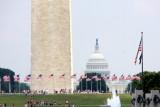 Capitol from the World War II memorial, Washington D.C.