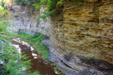 The canyon walls at Glen Cathedral, Watkins Glen State Park, NY