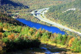 Echo Lake and Road network, Franconia Notch State Park, NH - fall colors