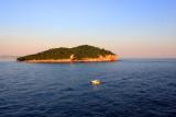 Lokrum Island at dusk