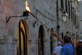Night, Street lamps are lit, Dubrovnik