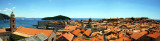 Panorama, Dubrovnik Old Town rooftops from Minceta Tower