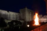 Walls of Dubrovnik at night