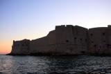 Walls of Dubrovnik at dusk
