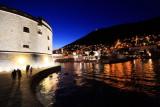 Dubrovnik City Harbor at night