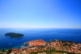 Old Town (Grad) Dubrovnik, Lokrum Island and the Adriatic Sea