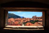 Rooftops of Dubrovnik framed