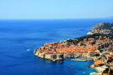 Dubrovnik Old Town from the road to the airport