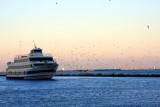 Ship returning to Chicago, Lake Michigan