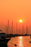 Monroe Harbor, dawn in Chicago