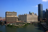 Merchandise Mart and the branches of Chicago River