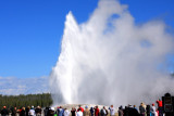 Old Faithful erupting (approx. 90 minute  frequency) - Yellowstone National Park
