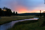 Madison River at Sunrise - Yellowstone National Park