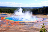 Grand Prismatic Spring (Largest hot spring - 380 feet), Midway Geyser Basin - Yellowstone National Park