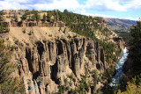 Yellowstone River, Grand Canyon and the Columnar Basalt formations - Yellowstone National Park
