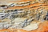 Layers of Limestone, Mammoth Hot Springs - Yellowstone National Park