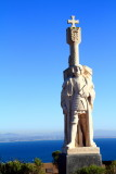 Cabrillo National Monument, looking out over the bay, sculptor Alvaro de Bree, San Diego